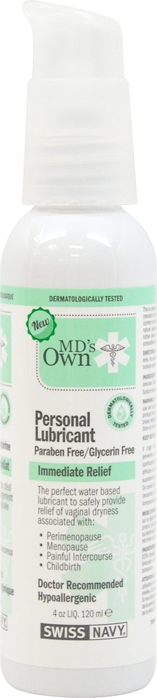 MD's Own Personal Lubricant Paraben & Glycerin Free-4 oz Gel 020431