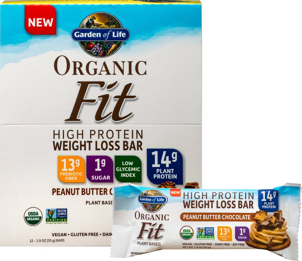 best protein bars, healthy protein bars, garden of life organic fit bar