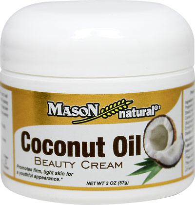 Mason Naturals Coconut Oil Beauty Cream-2 oz Cream 022697
