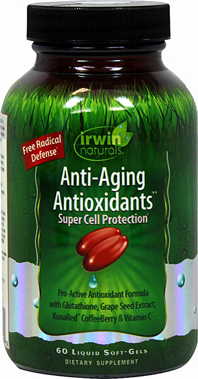 Irwin Naturals Anti-Aging Antioxidants with Coffeeberry-60 Softgels