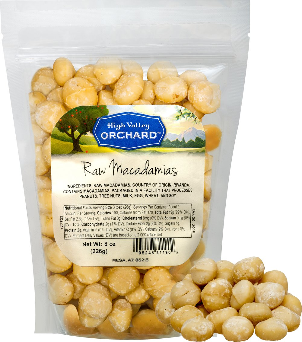 High Valley Orchard Raw Macadamia Nuts-8 oz Bag 037036