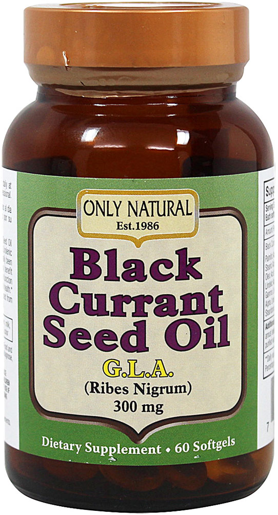 Only Natural Black Currant Seed Oil 300 mg-60 Softgels 051580