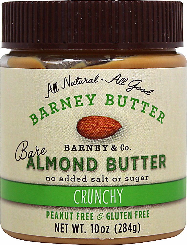 Barney Butter Bare Almond Butter Crunchy -10 oz Jar 056914
