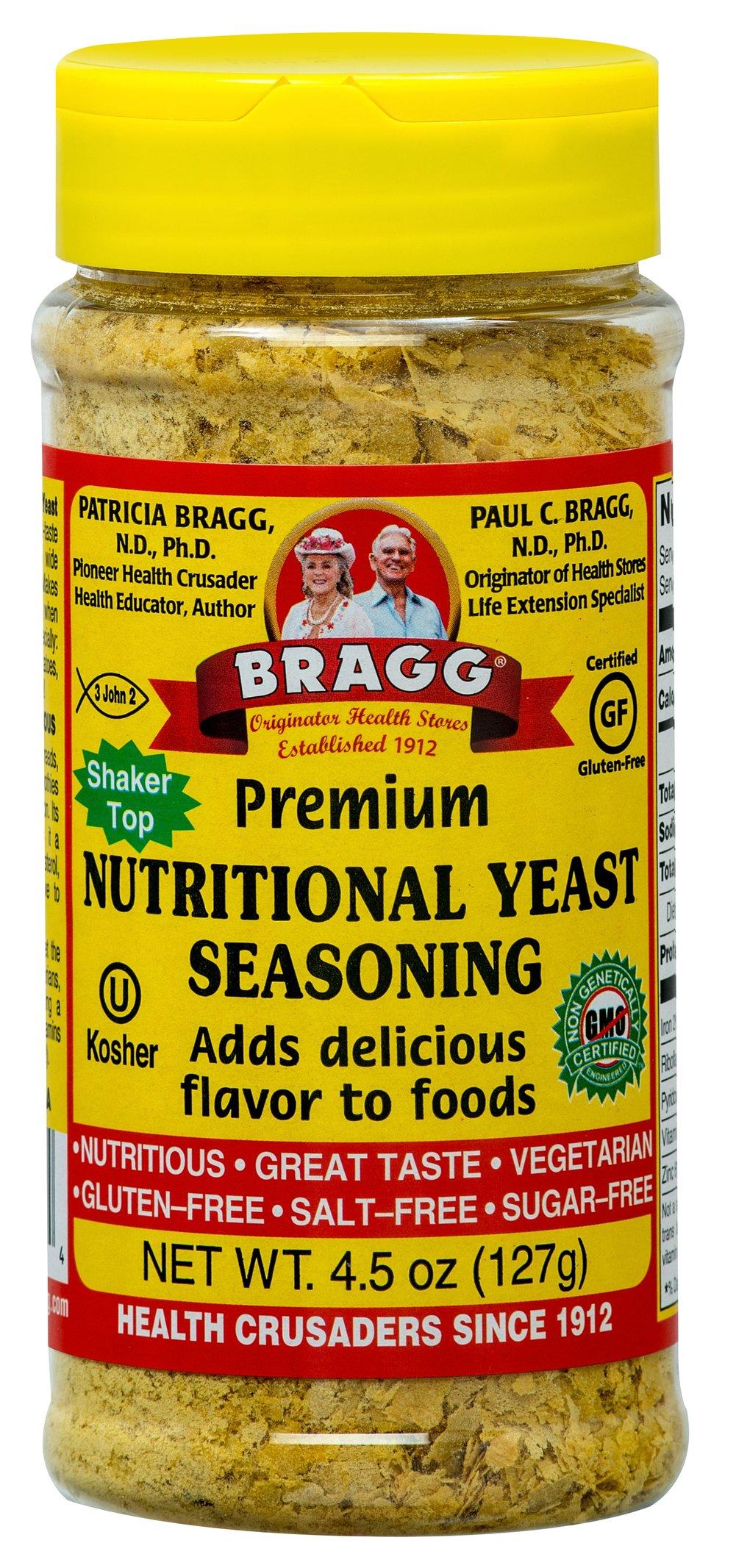 Bragg Premium Nutritional Yeast Seasoning-4.5 oz Seasoning
