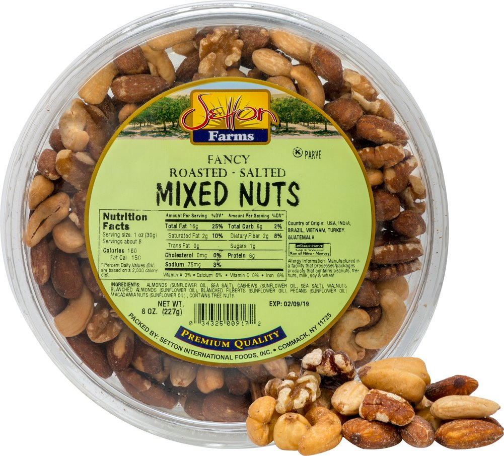 Setton Farms Fancy Roasted Salted Mixed Nuts-8 oz Container 059662