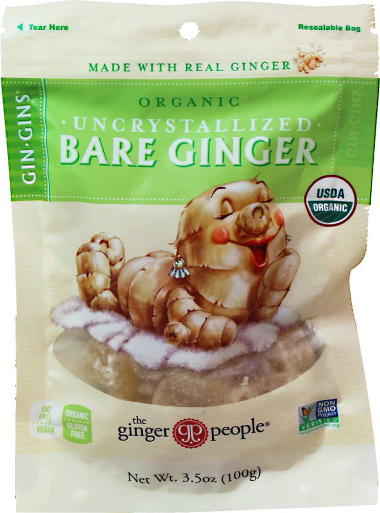 Ginger People Organic Uncrystallized Bare Ginger-3.5 oz Bag 060973