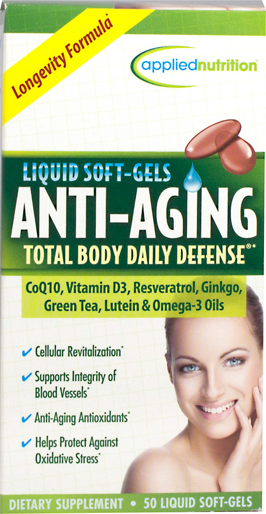Applied Nutrition Anti-Aging Total Body Daily Defense-50 Softgels
