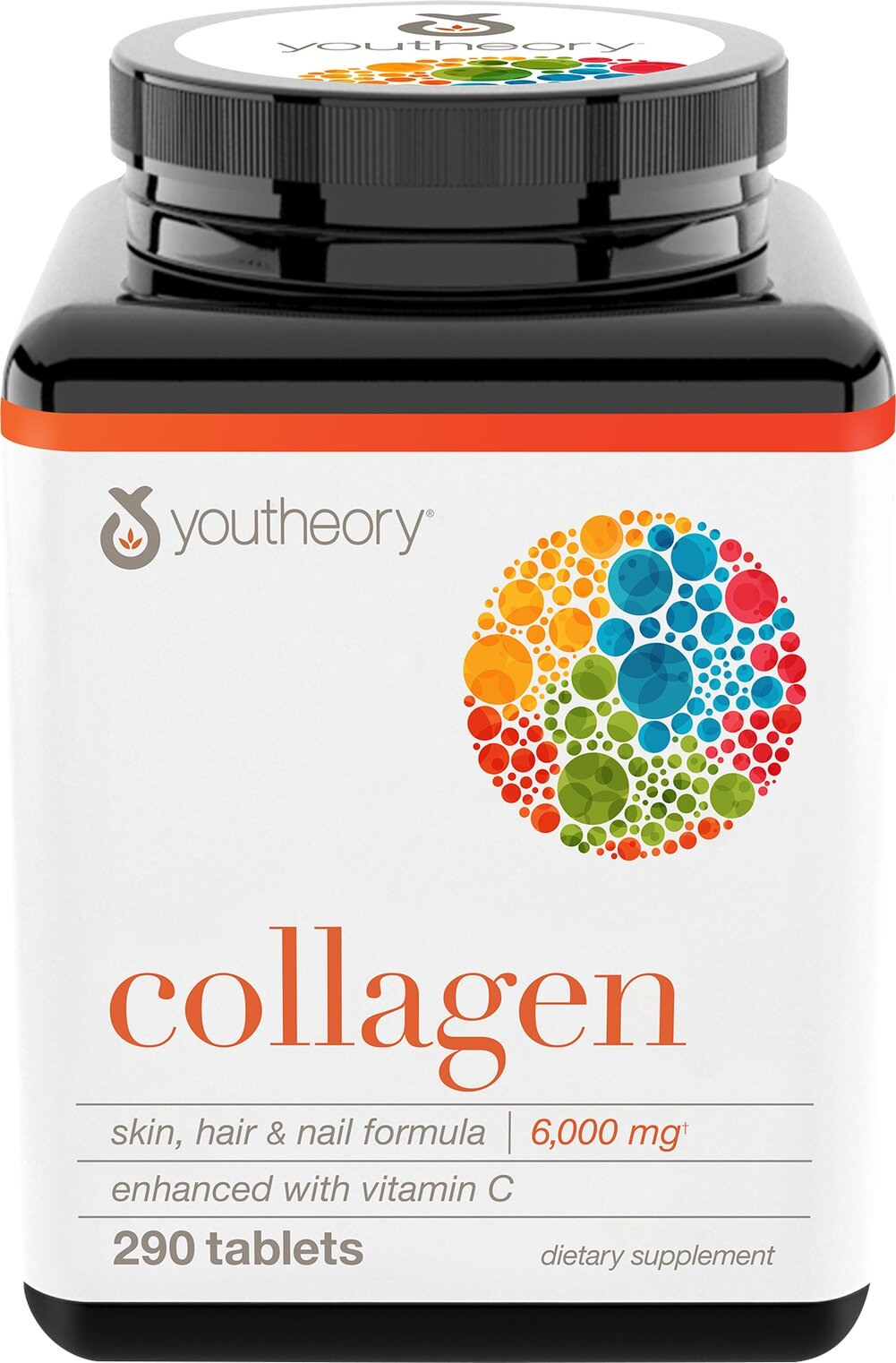 Youtheory Collagen Advanced Formula Type 1, 2 & 3-290 Tablets–Puritans Pride-Cash Back