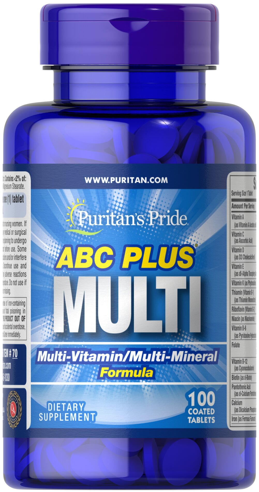ABC Plus Multivitamin and Multi-Mineral Formula Thumbnail Alternate Bottle View