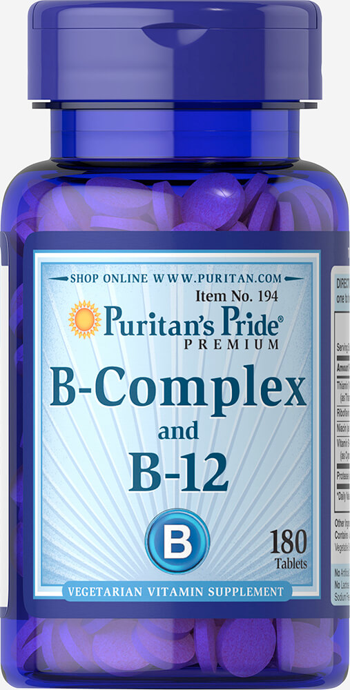 Vitamin B-Complex And Vitamin B-12 Thumbnail Alternate Bottle View