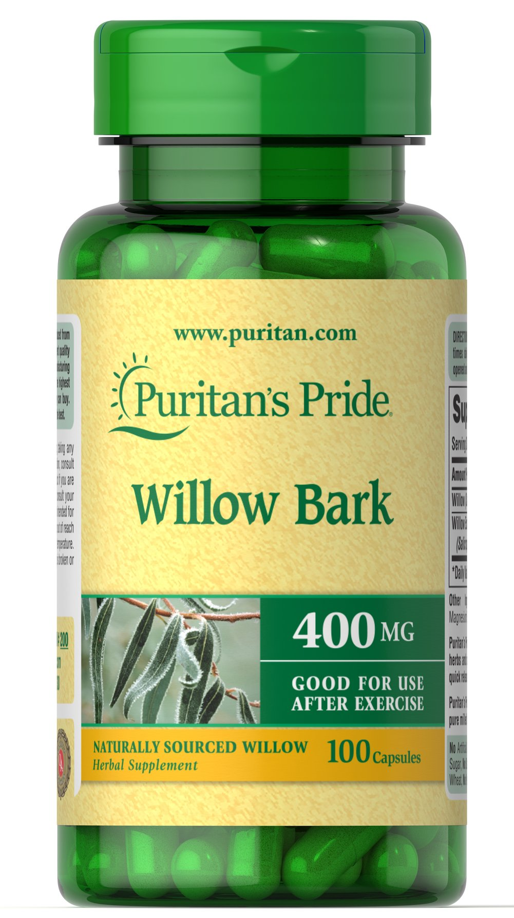 Willow Bark 400 mg Thumbnail Alternate Bottle View