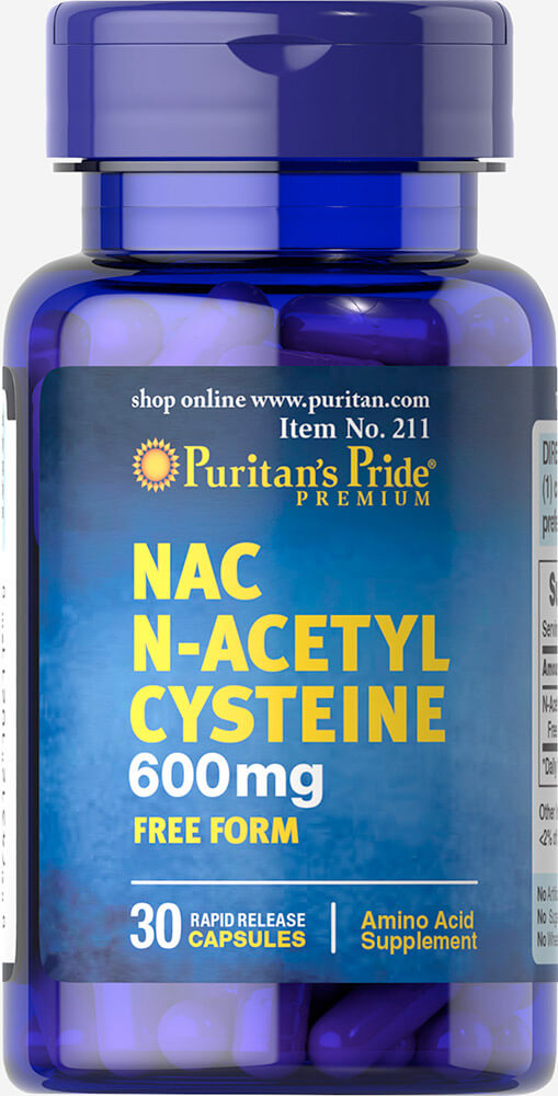 N-Acetyl Cysteine (NAC) 600 mg Thumbnail Alternate Bottle View