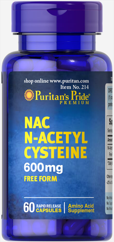 NAC 600 mg (N-Acetyl Cysteine) Thumbnail Alternate Bottle View