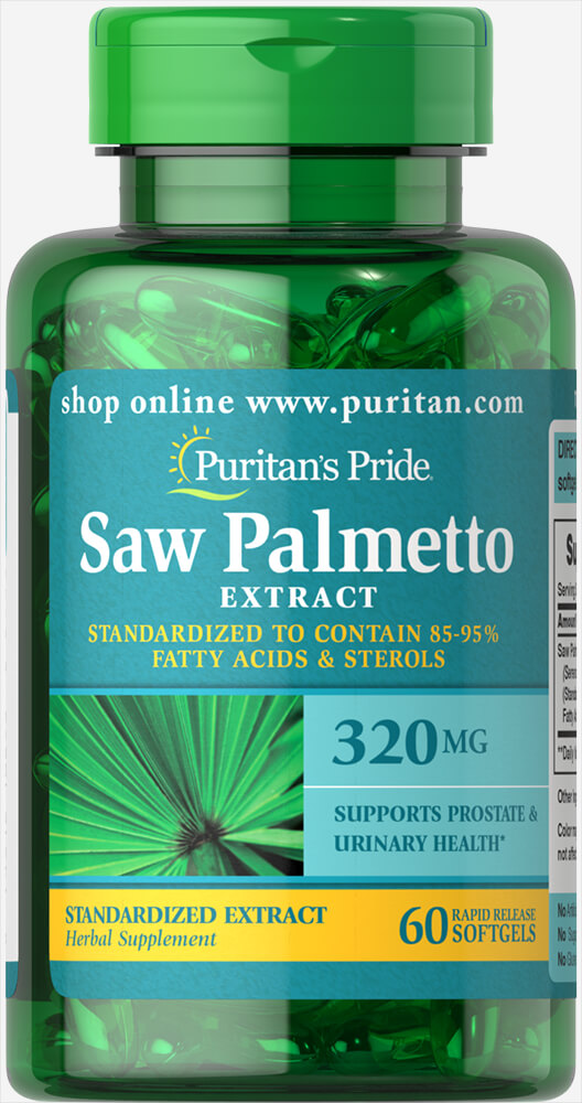 Saw Palmetto Standardized Extract 320 mg Thumbnail Alternate Bottle View