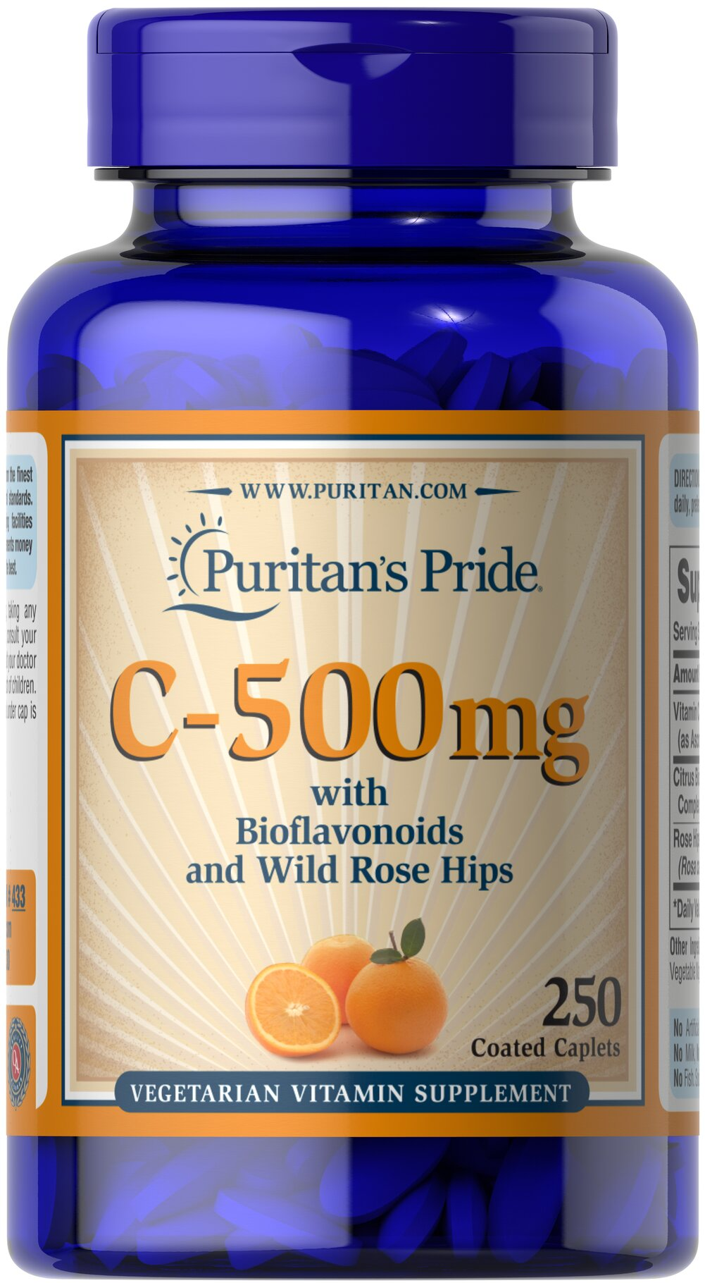 Vitamin C-500 mg with Bioflavonoids & Rose Hips Thumbnail Alternate Bottle View