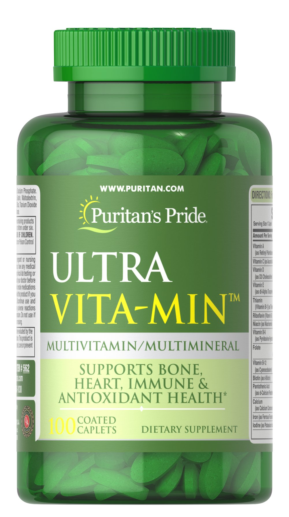 Ultra Vita-Min™ Multivitamin & Minerals VM-33 Thumbnail Alternate Bottle View