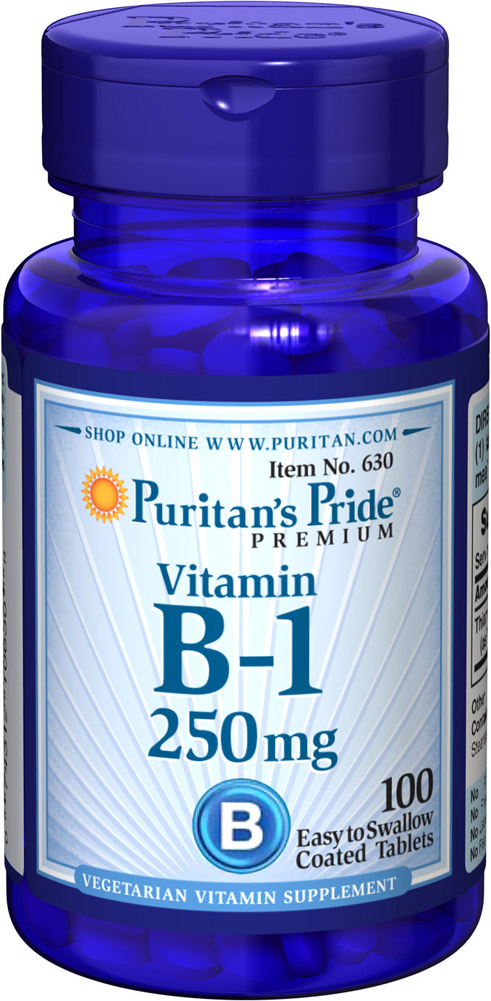 Vitamin B-1 250 mg Thumbnail Alternate Bottle View
