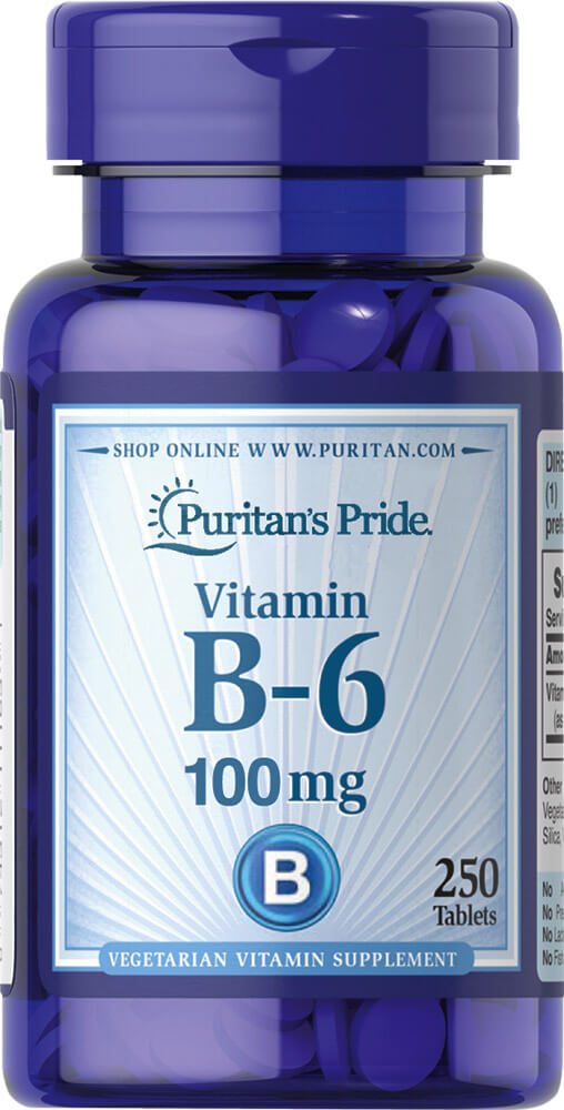 Vitamin B-6 (Pyridoxine Hydrochloride) 100 mg Thumbnail Alternate Bottle View
