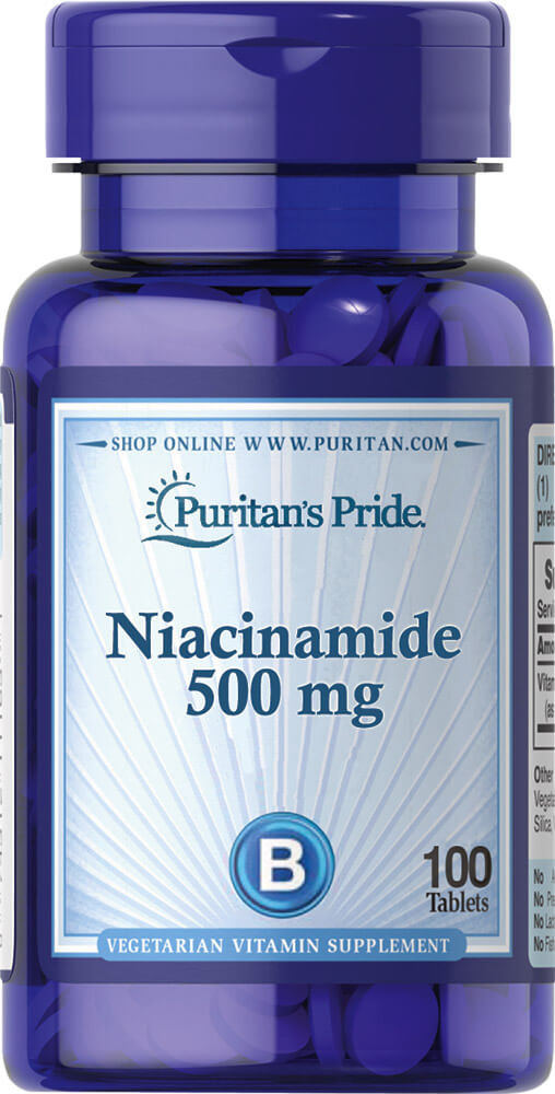 Niacinamide 500 mg Thumbnail Alternate Bottle View