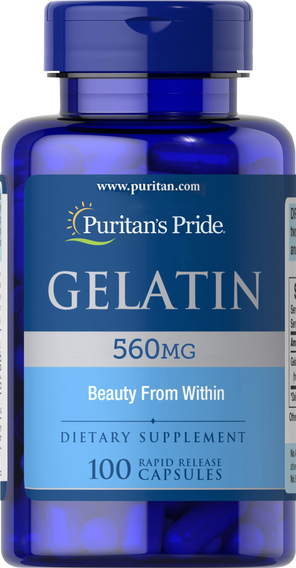 Gelatin 560 mg Thumbnail Alternate Bottle View