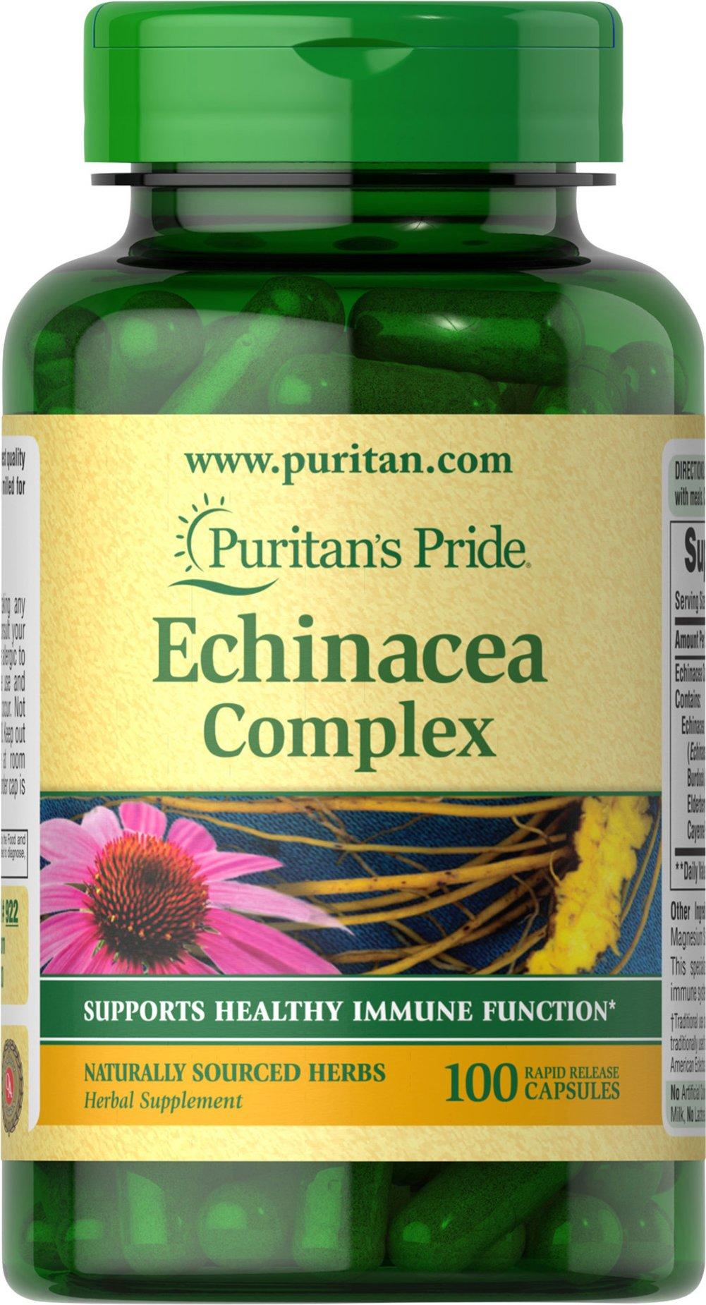 Puritan's Pride Echinacea Complex-100 Capsules