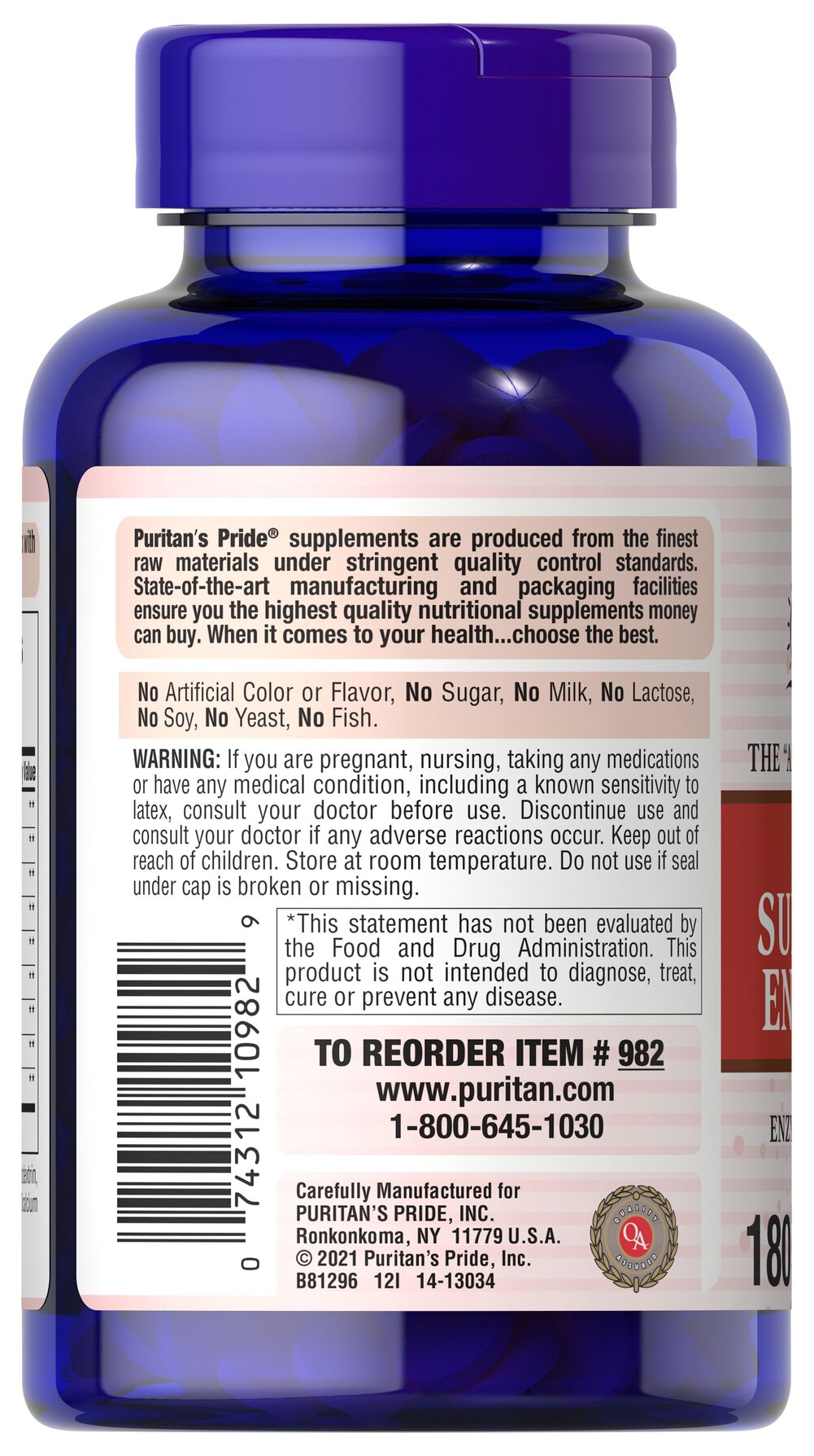 Chewable Super Papaya Enzyme Plus Thumbnail Alternate Bottle View