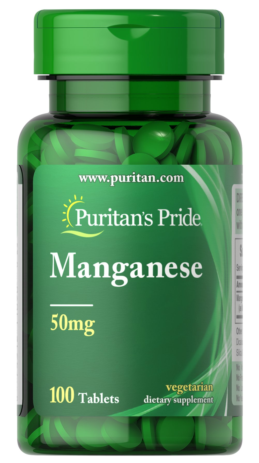 Manganese 50 mg Thumbnail Alternate Bottle View