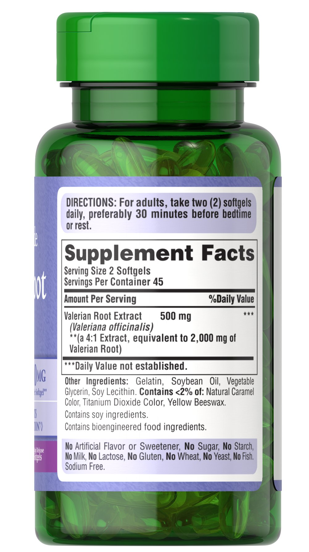 Valerian Root 1000 mg Thumbnail Alternate Bottle View