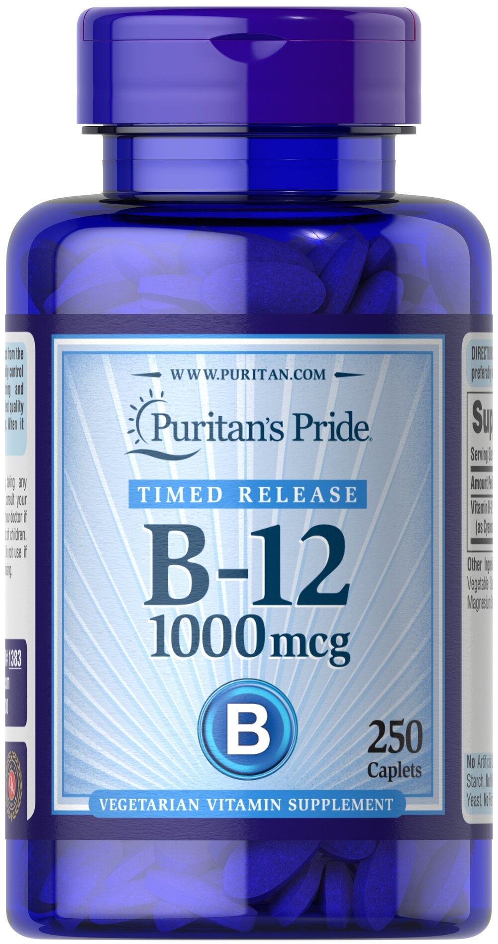Vitamin B-12 1000 mcg Timed Release Thumbnail Alternate Bottle View