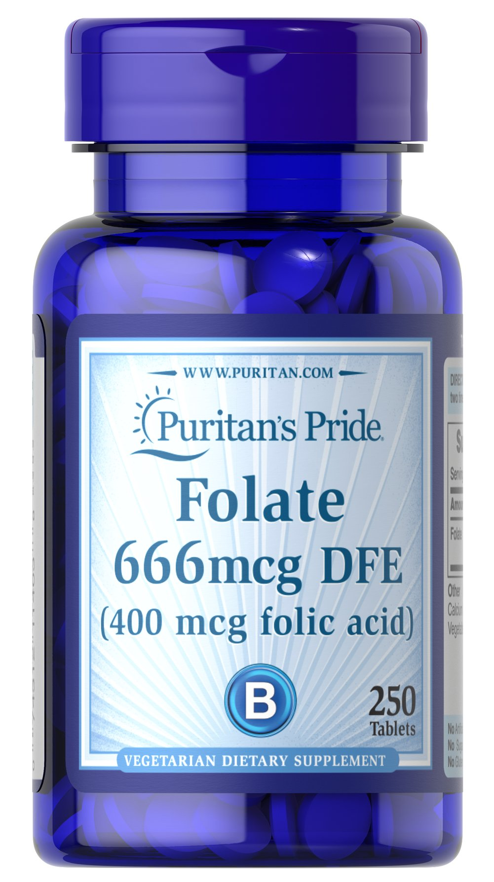 Folate 666mcg DFE (Folic Acid 400 mcg)