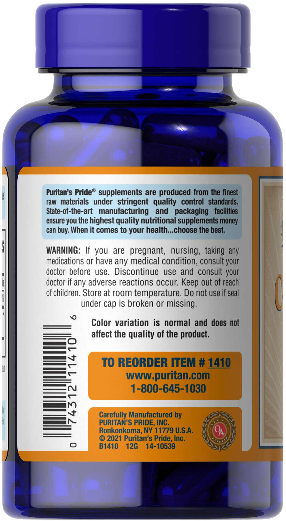 Vitamin C-1000 mg with Bioflavonoids Thumbnail Alternate Bottle View