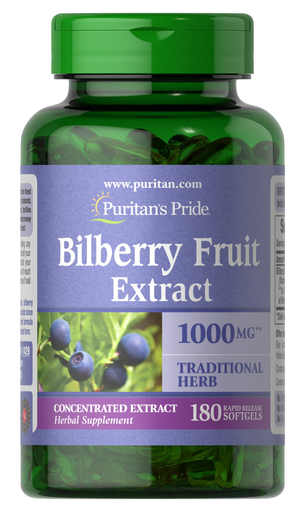 improve eye power with Puritan's Pride Bilberry 1000 mg-180 Softgels