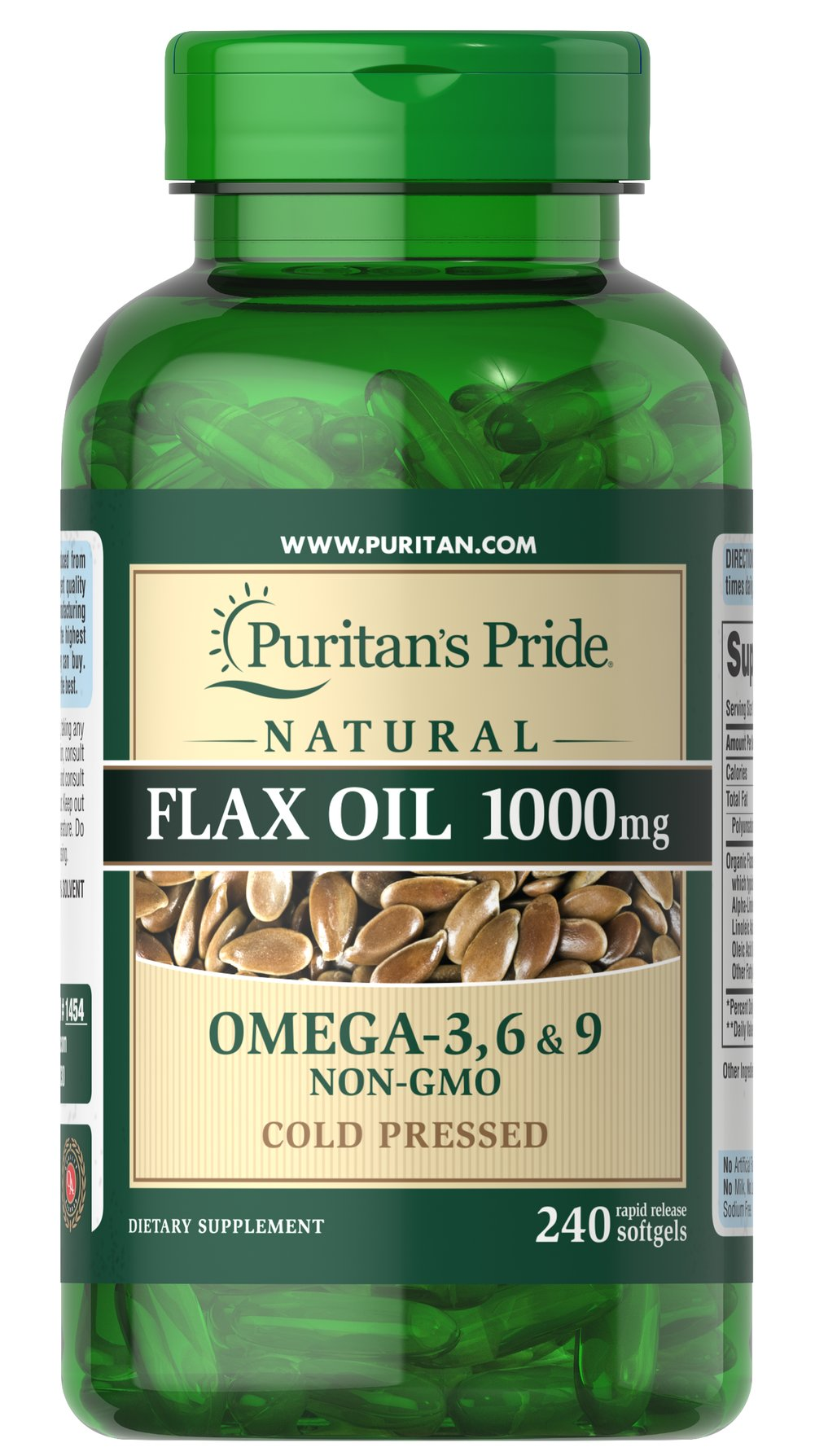 Non-GMO Natural Flax Oil 1000 mg