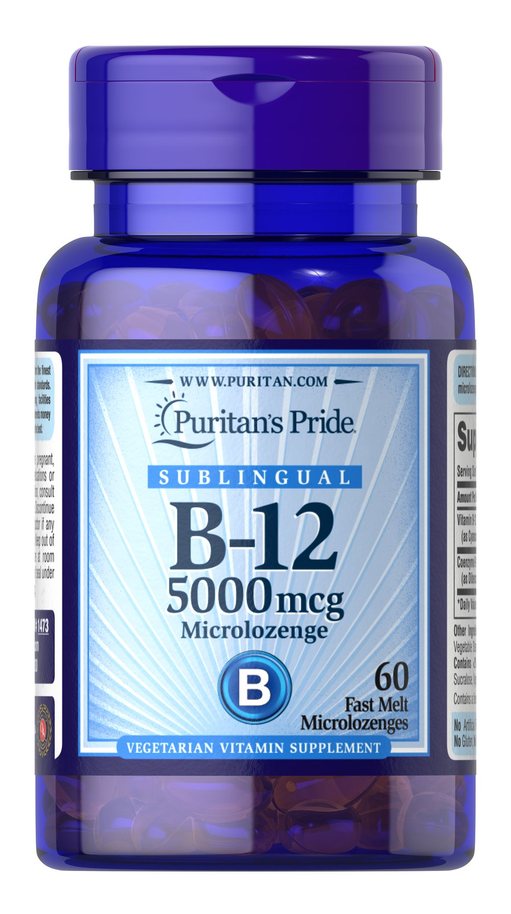 Vitamin B-12 5000 mcg Sublingual Thumbnail Alternate Bottle View