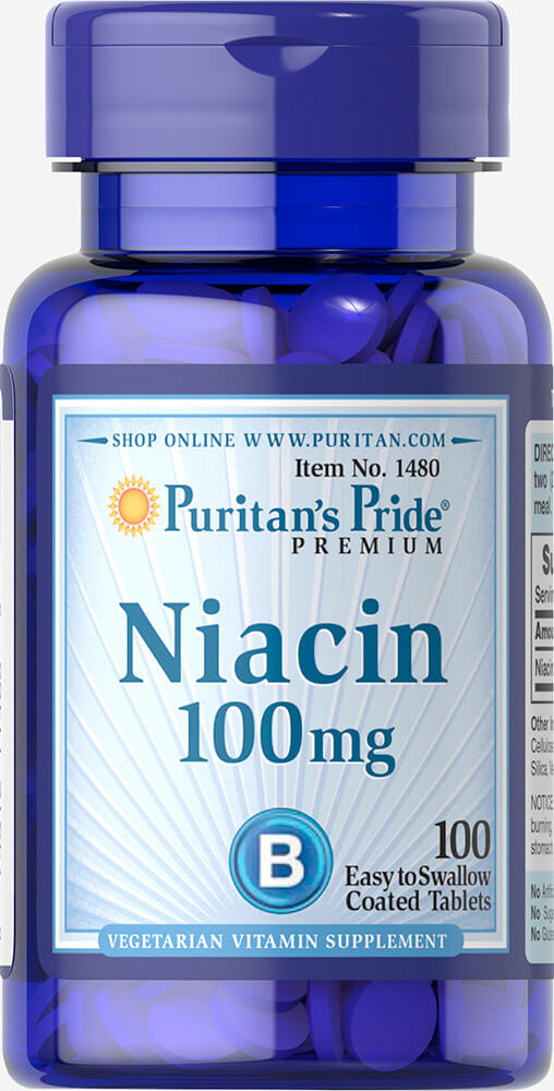 Niacin 100 mg Thumbnail Alternate Bottle View