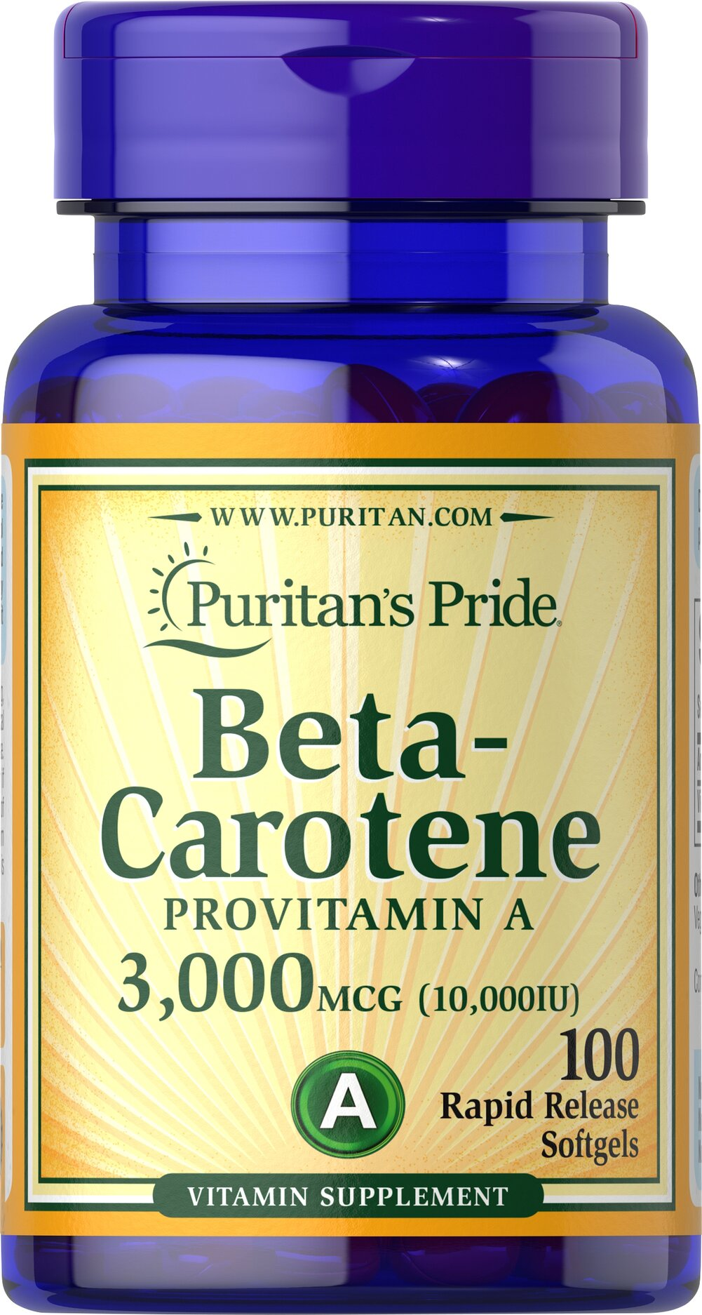 Beta-Carotene 10,000 IU Thumbnail Alternate Bottle View