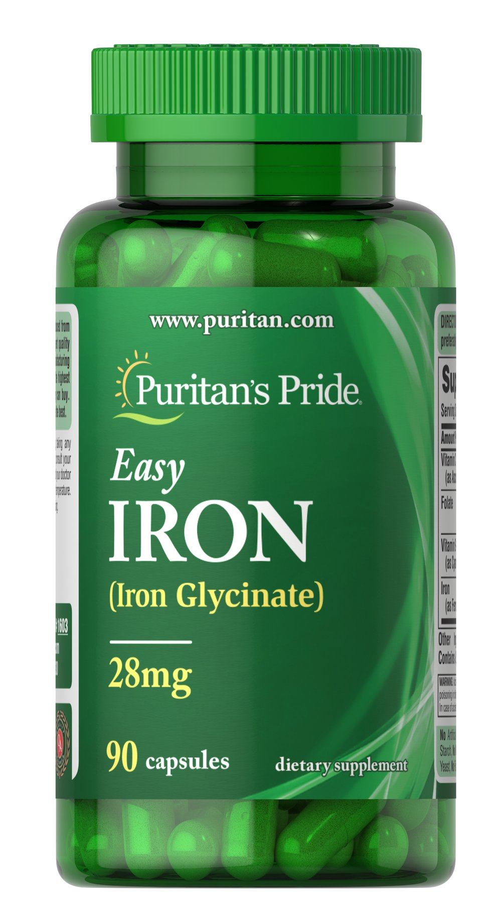 Easy Iron 28 mg (Iron Glycinate) Thumbnail Alternate Bottle View