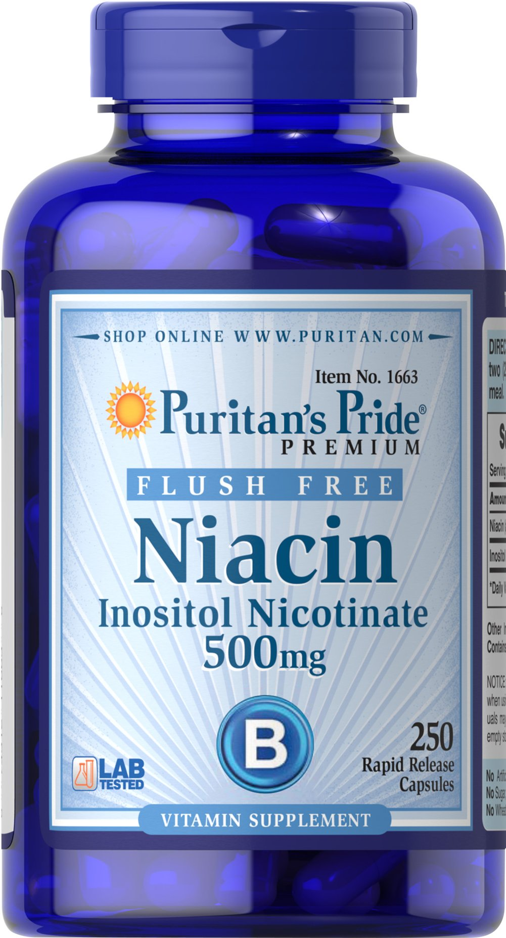 Flush Free Niacin 500 mg Thumbnail Alternate Bottle View