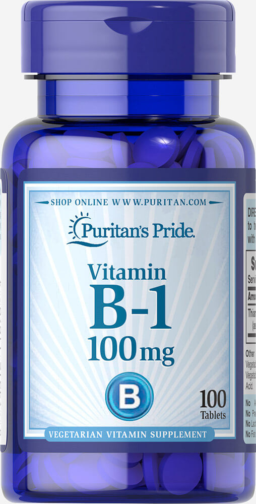 Vitamin B-1 100 mg Thumbnail Alternate Bottle View