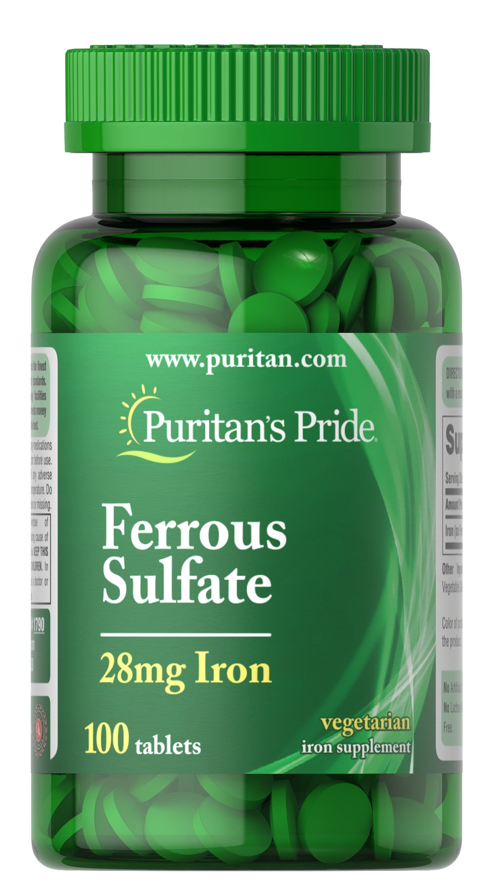 Iron Ferrous Sulfate 28 mg Thumbnail Alternate Bottle View