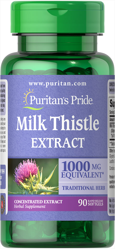 Milk Thistle 4:1 Extract 1000 mg (Silymarin)