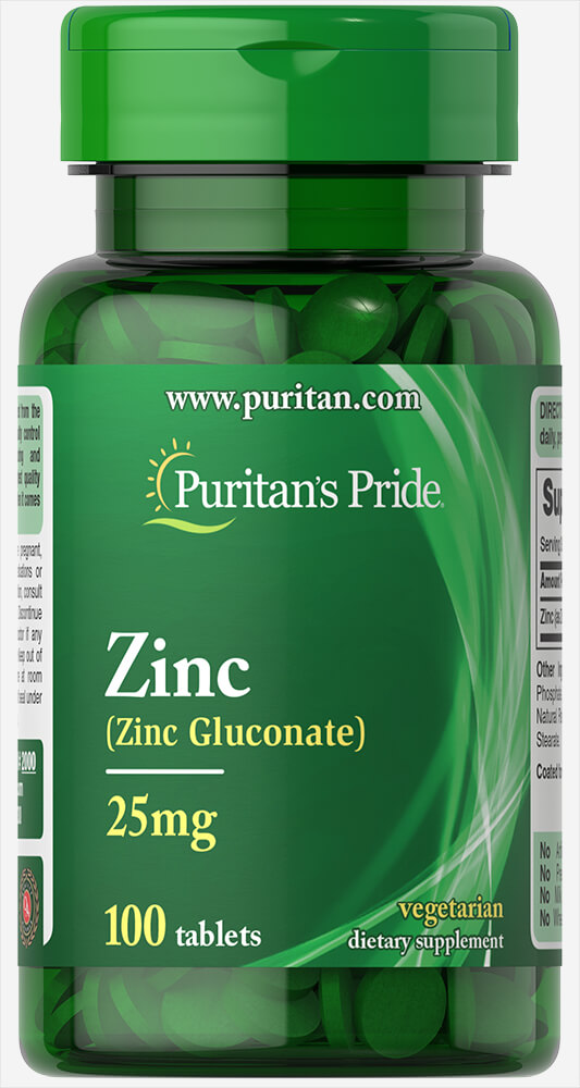 Zinc 25 mg Thumbnail Alternate Bottle View