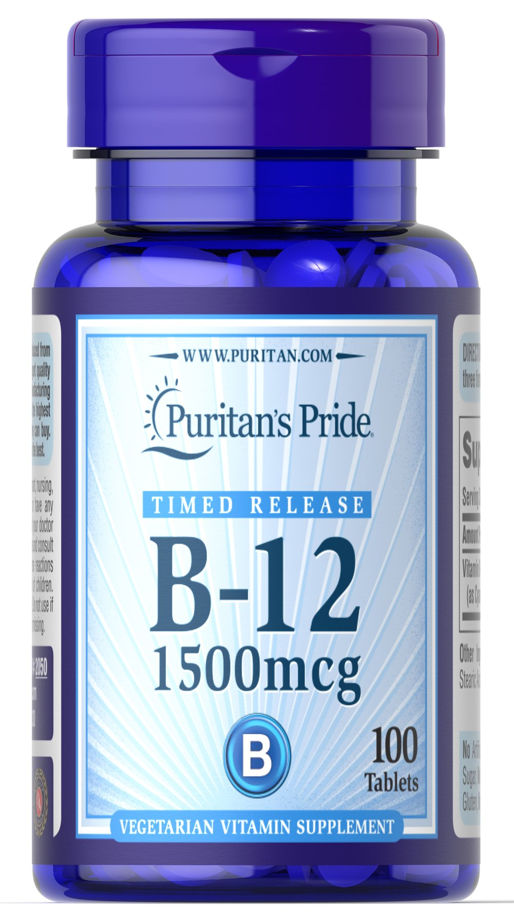 Vitamin B-12 1500 mcg Timed Release Thumbnail Alternate Bottle View