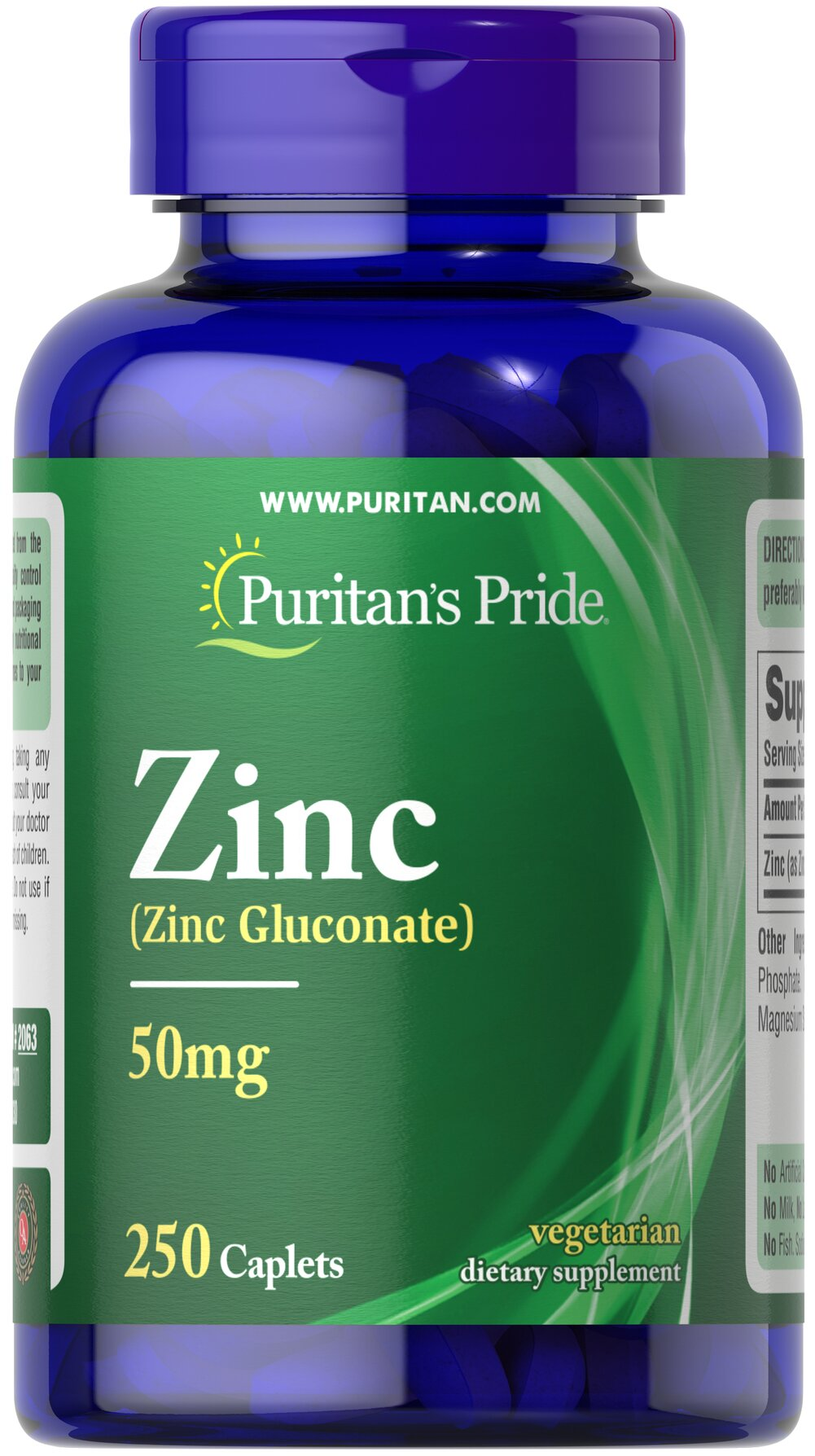 Zinc 50 mg Thumbnail Alternate Bottle View