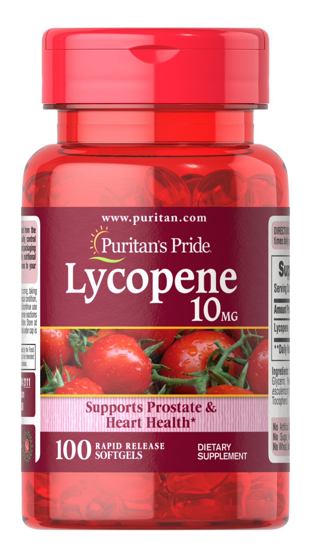 Lycopene 10 mg Thumbnail Alternate Bottle View