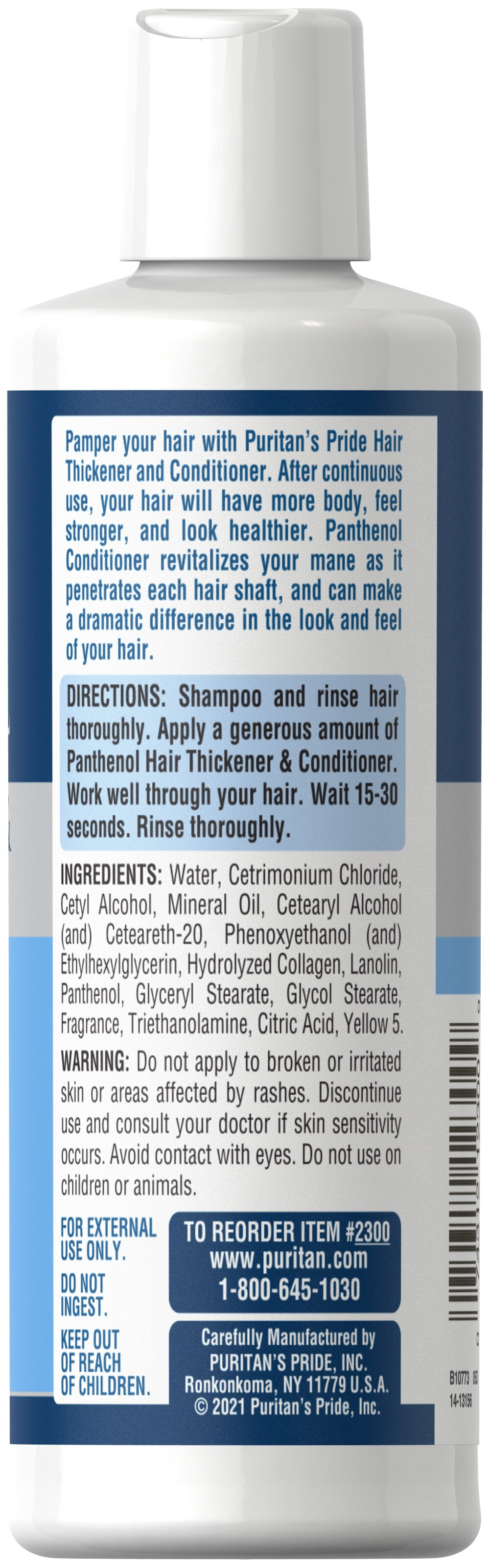 Panthenol Hair Thickener & Conditioner Thumbnail Alternate Bottle View