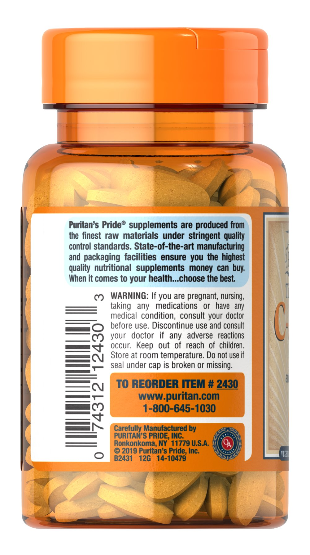 Vitamin C-500 mg with Rose Hips Time Release Thumbnail Alternate Bottle View