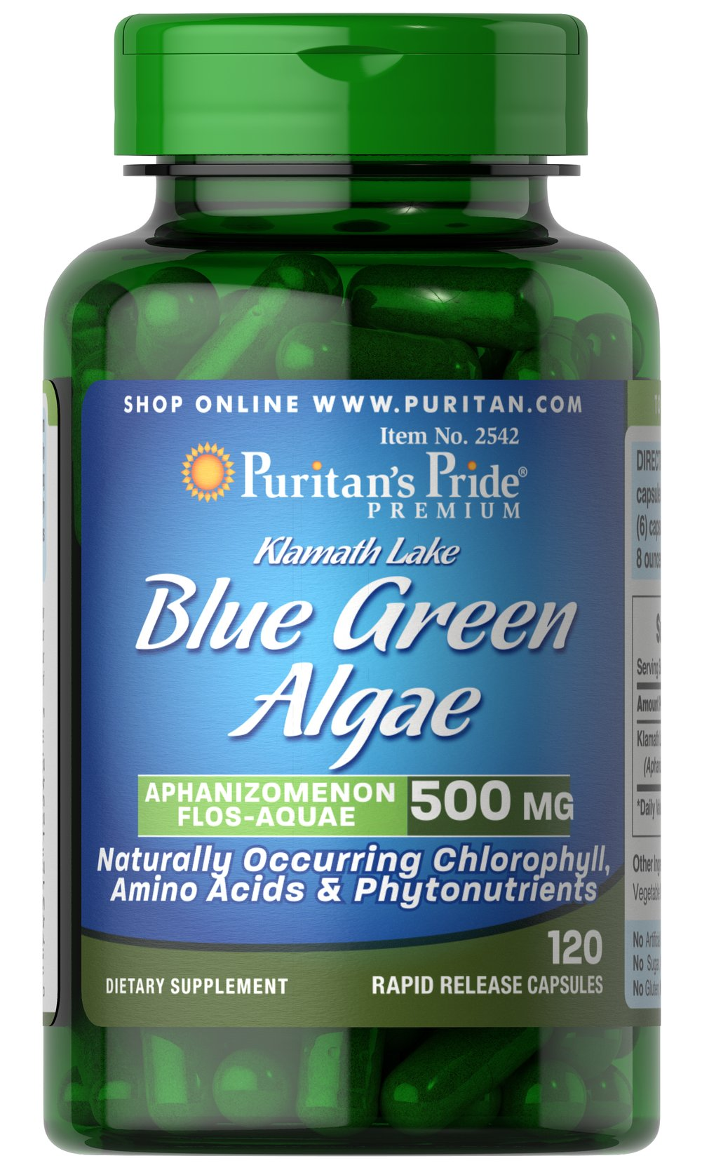 Klamath Lake Blue Green Algae 500 mg