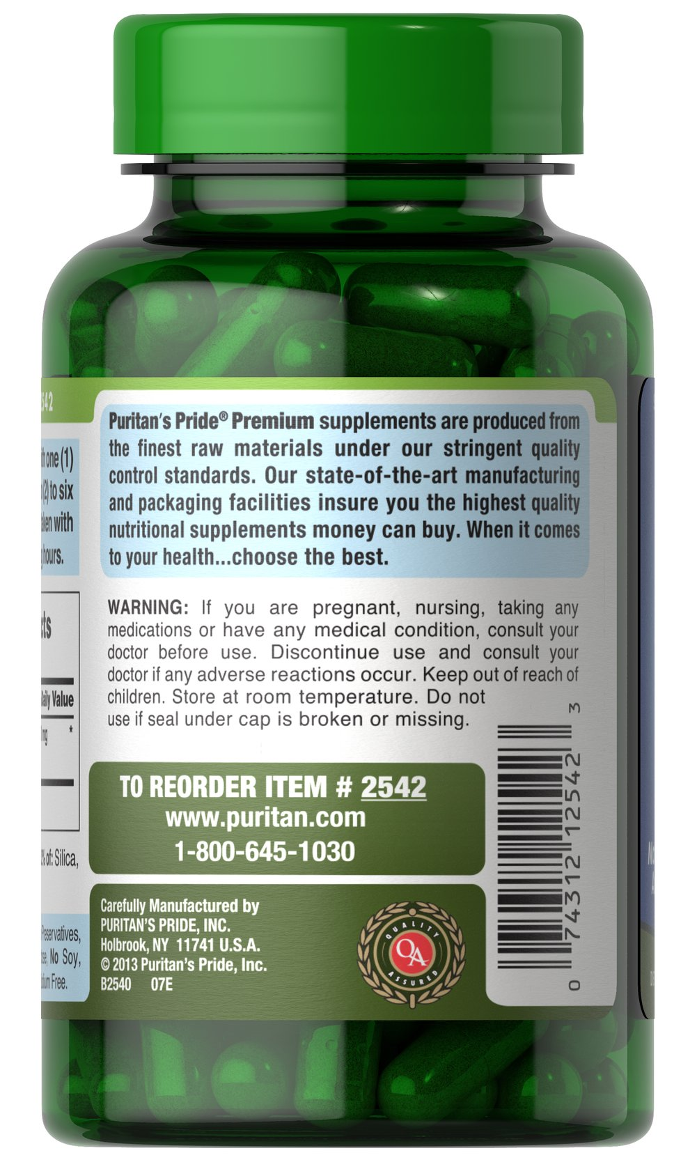 Klamath Lake Blue Green Algae 500 mg Thumbnail Alternate Bottle View