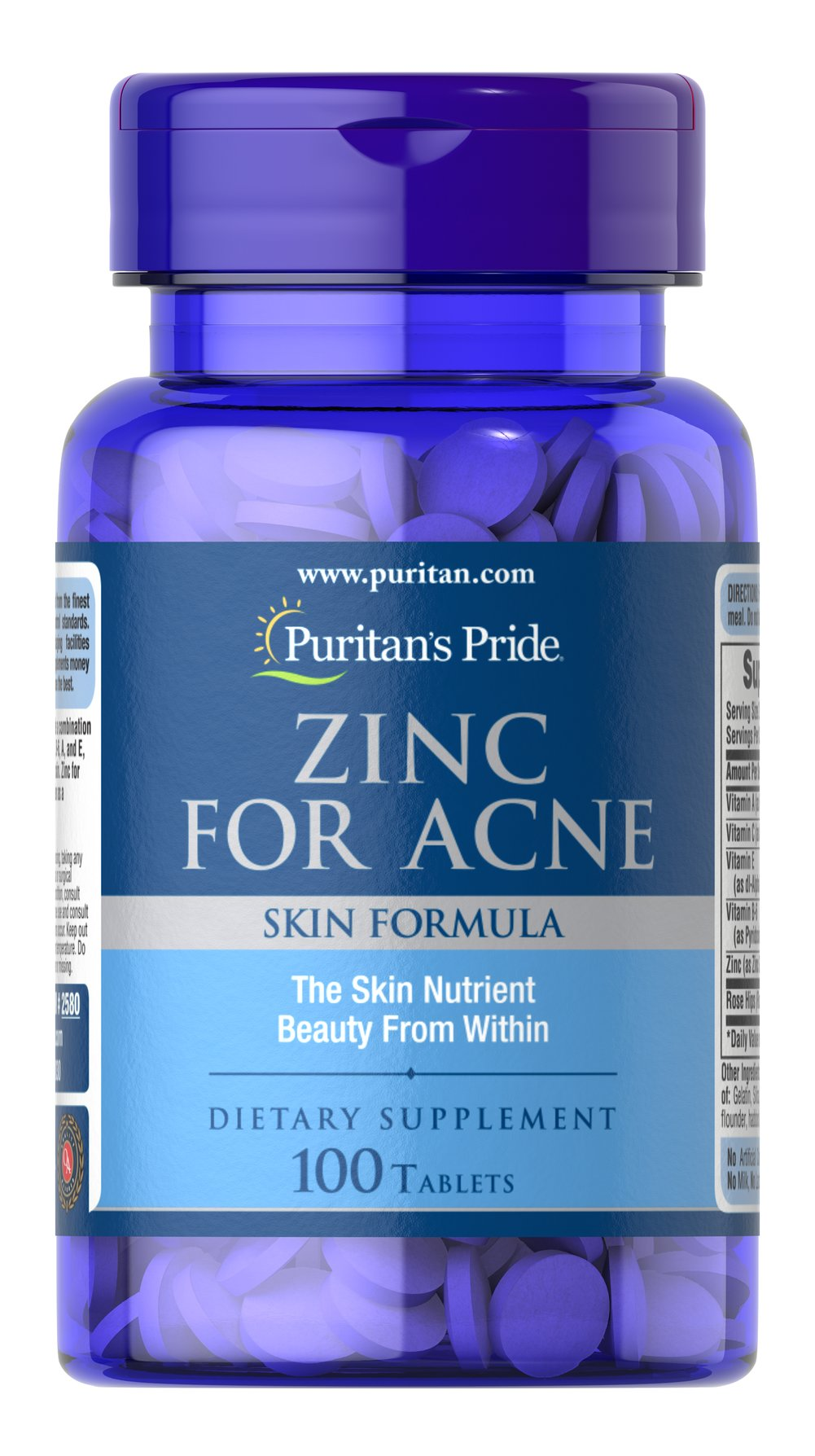 Zinc for Acne Thumbnail Alternate Bottle View